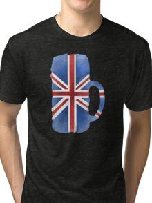 UK Beer Flag Tri-blend T-Shirt