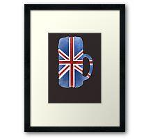 UK Beer Flag Framed Print