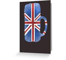 UK Beer Flag Greeting Card
