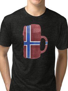 Norway Beer Flag Tri-blend T-Shirt
