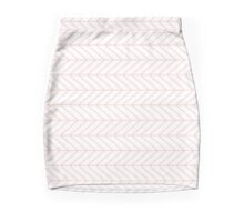 White and Pink Arrows Mini Skirt