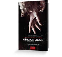 Hemlock grove affiche saison 1 Greeting Card
