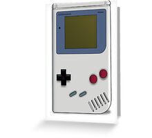 Classic GameBoy Grey Greeting Card