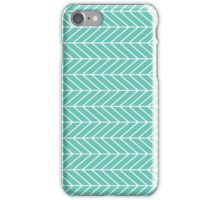 Teal and White Arrows iPhone Case/Skin