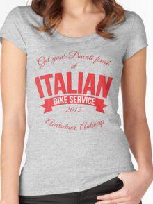 Italian Bike Service Women's Fitted Scoop T-Shirt