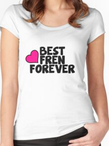 Music/Humour - Best Fren Forever Women's Fitted Scoop T-Shirt