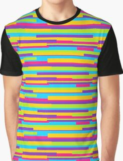 Colorful Stripes Background Graphic T-Shirt