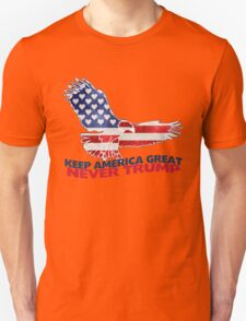 #Never Trump - Keep America Great Eagle Unisex T-Shirt
