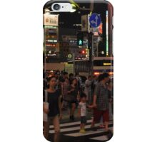 People Walking in a Busy Tokyo Intersection iPhone Case/Skin
