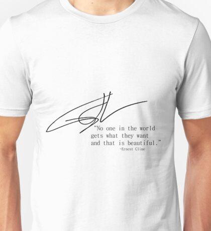 Ernest Cline Signed Quotable Unisex T-Shirt