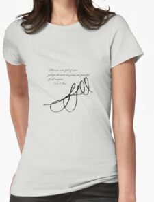 Sarah J Maas Signed Quotable Womens Fitted T-Shirt