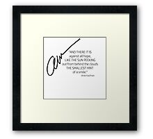 Amie Kaufman Signed Quotable Framed Print