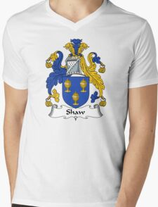 Shaw Coat of Arms / Shaw Family Crest Mens V-Neck T-Shirt