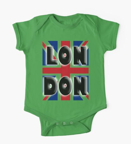 UNION JACK, LONDON, Brits, ENGLAND, IN COLOUR, UK, GB, Britain, BRITISH, One Piece - Short Sleeve
