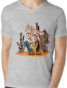 luckyluke Mens V-Neck T-Shirt