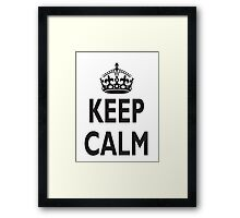 KEEP CALM, BE BRITISH, BRITISH, United Kingdom, UK, GB, WWII Framed Print