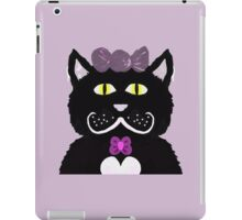 Kitty with Pink bows iPad Case/Skin