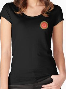 """Swedenborg Foundation """"Crest"""" Logo Small Women's Fitted Scoop T-Shirt"""
