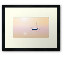 blue boat  |  Hyannis Port, Cape Cod MA Framed Print