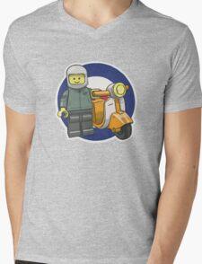 Lego Scooterist Mens V-Neck T-Shirt