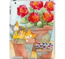 Sleeping Kittens and Geraniums iPad Case/Skin