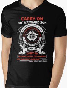Supernatural - CARRY ON MY WAYWARD SON Mens V-Neck T-Shirt
