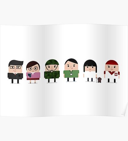 Cute Characters Poster