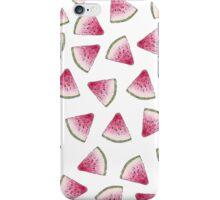 Summery Cute Watercolor Watermelon Slices Pattern iPhone Case/Skin