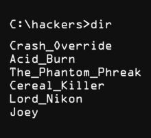 Hackers Movie - C: Cast of Characters One Piece - Long Sleeve