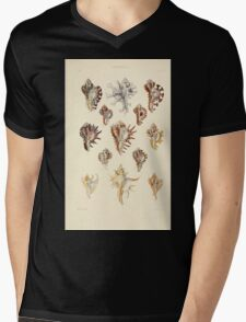 Thesaurus conchyliorum Monographs of genera of shells George Brettingham Sowerby 1887 V1-V5 498 Mens V-Neck T-Shirt