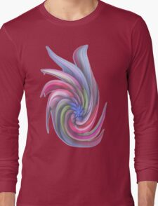 Swirling abstract flower Long Sleeve T-Shirt