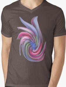 Swirling abstract flower Mens V-Neck T-Shirt