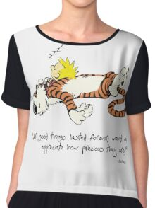 Calvin and hobbes quote Chiffon Top