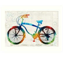 Colorful Bike Art - Free Spirit - By Sharon Cummings Art Print