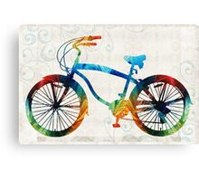 Colorful Bike Art - Free Spirit - By Sharon Cummings Canvas Print
