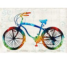 Colorful Bike Art - Free Spirit - By Sharon Cummings Photographic Print