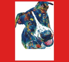 Colorful Dog Art - Happy Go Lucky - By Sharon Cummings Kids Tee