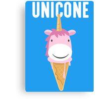 Unicone Unicorn Ice Cream T Shirt Canvas Print