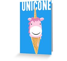 Unicone Unicorn Ice Cream T Shirt Greeting Card