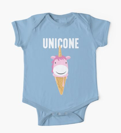 Unicone Unicorn Ice Cream T Shirt One Piece - Short Sleeve
