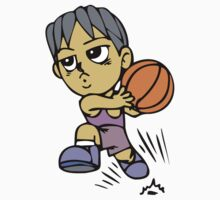 Basketball cartoon art Kids Tee