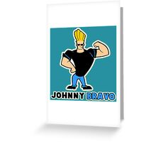johnny bravo Greeting Card