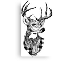 Posh Deer Drawing Canvas Print