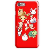 Kawaii Animals Collection (Red) iPhone Case/Skin