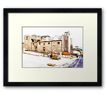 L'Aquila: collapsed church Framed Print