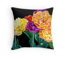 Sunny Tulips Throw Pillow