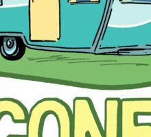 Gone Camping Travel Trailer Sticker