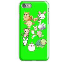 Kawaii Animals Collection (Green) iPhone Case/Skin