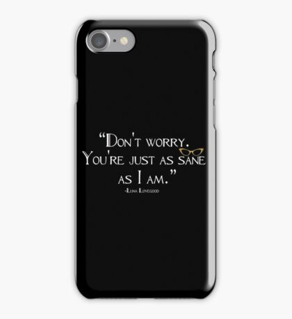 I'm Sane Solid Black iPhone Case/Skin