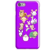 Kawaii Animals Collection (Purple) iPhone Case/Skin